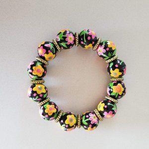 Angela Moore Floral Bracelet